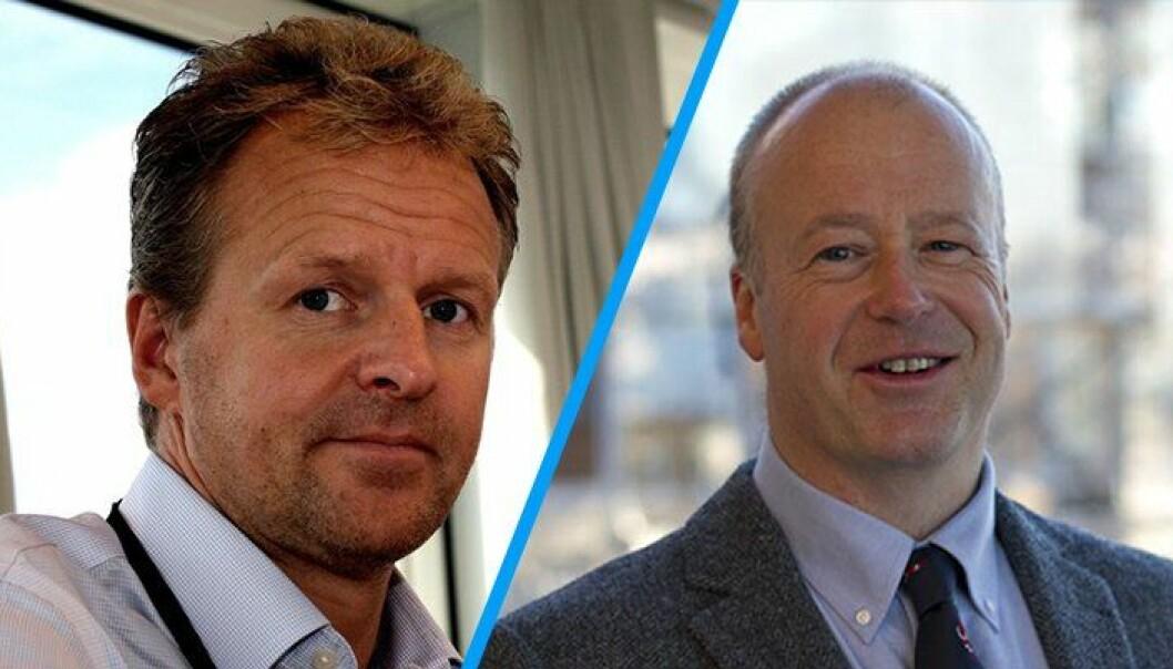 16. mai ga Erik Hasle (til venstre) beskjed til Cato Rindal om at han slutter som sjef for Politiets IKT-tjenester.