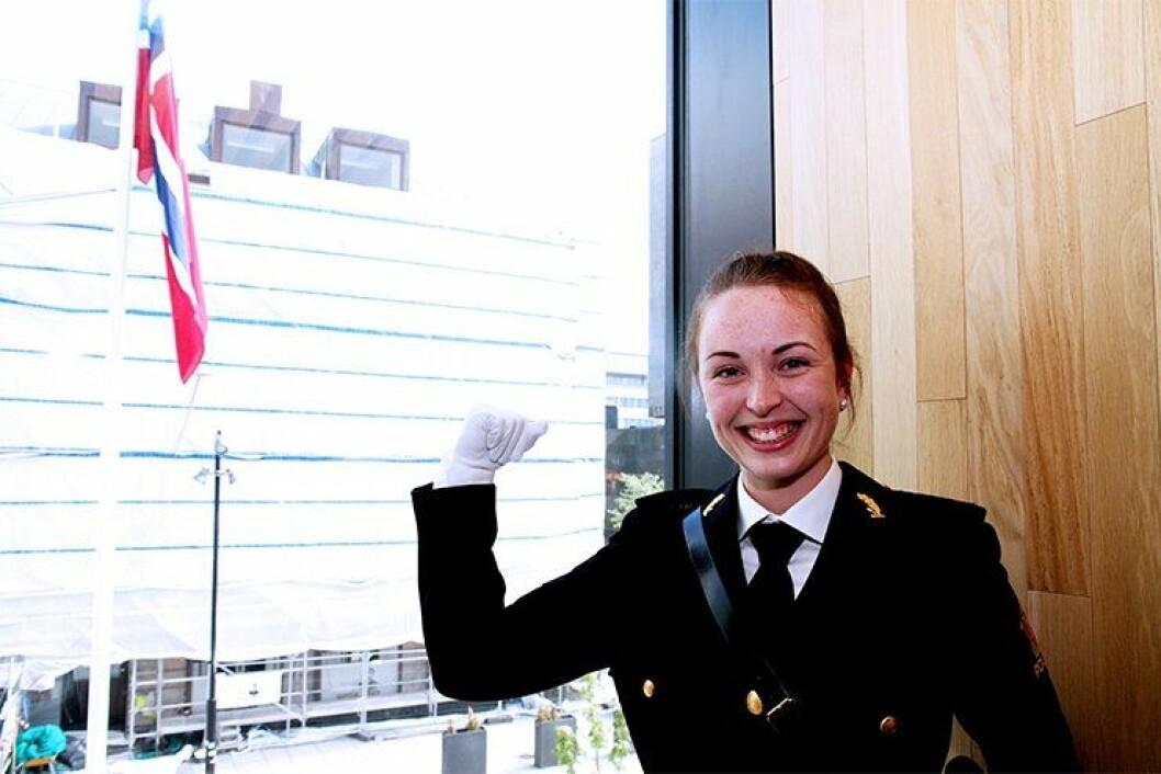 Sandra Myreng fikk Idrettsprisen som beste kvinne blant landets politihøgskoler.