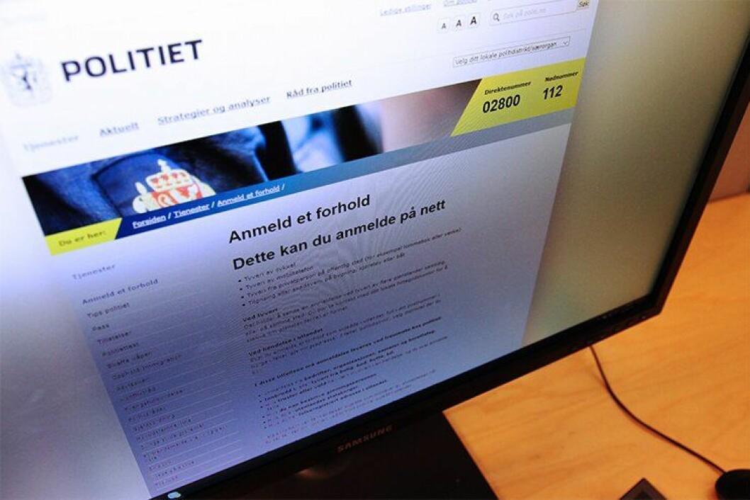 Fra 2009 har du kunnet levere anmeldelser på politiets hjemmesider. FOTO: Liv Rønnaug B. Lilleåsen