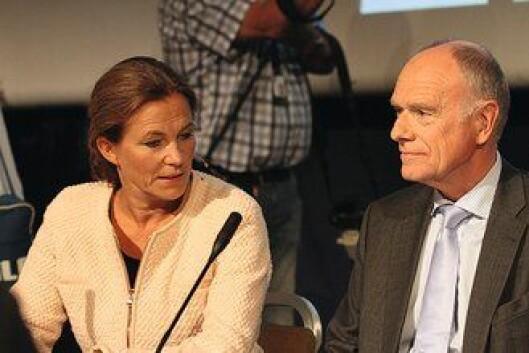 RAPPORTEN: Alexandra Gjørv og Ragnar Auglend, henholdsvis leder og medlem av 22.juli-kommisjonen, under framleggingen av rapporten i august 2012.