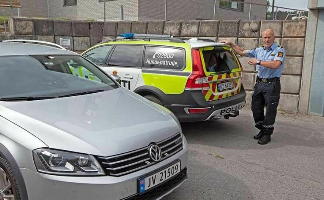 TOK GREP: Bilansvarlig John Trygve RØnning i gamle Nordre Buskerud politidistrikt sto i spissen for en rapport om distriktets biler i 2015. Resultatet ble fornying av bilparken.