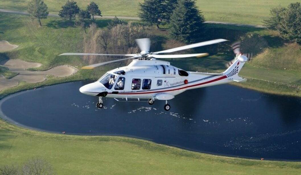 NYTT: Slik ser det nye politihelikopteret ut. Leverandøren er Leonardo Helicopters, og er av typen AW169.