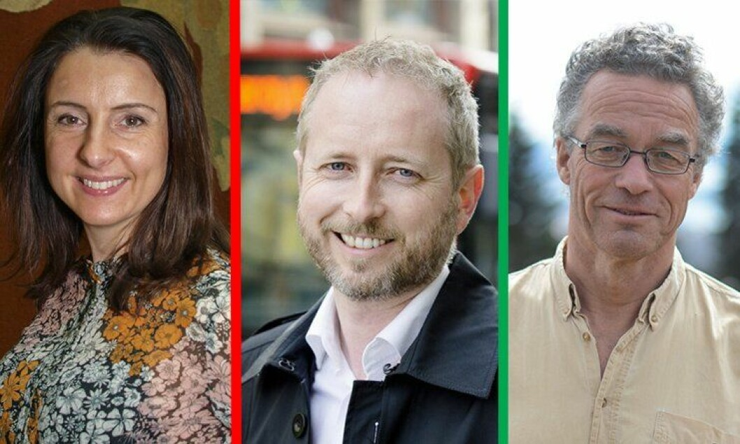 Jenny Klinge (Sp), Bård Vegar Solhjell (SV) og Rasmus Hansson (Mdg) stemte alle imot Nærpolitireformen.