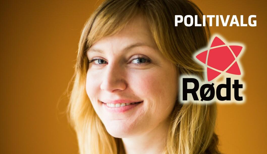 RØDT: Mari Eifring er partisekretær i Rødt og 3. kandidat til Stortinget for Rødt i Oslo. FOTO: Rødt
