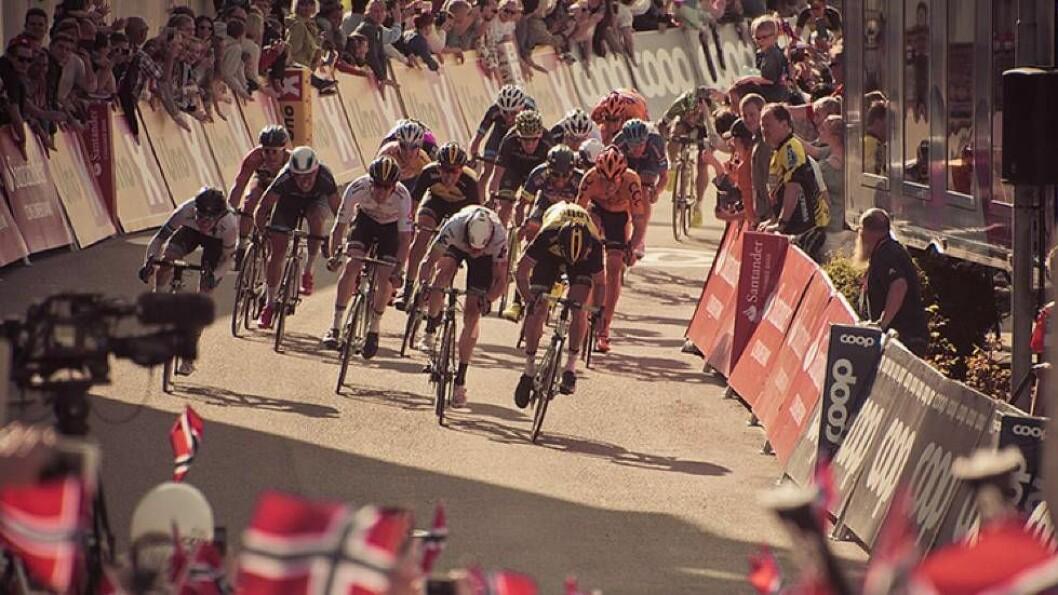 FOLKEFEST: Fra og med 16. september er Bergen vertsby for sykkel-VM, og opp mot 500.000 besøkende er forventet. Her fra Tour de Fjords i mai.