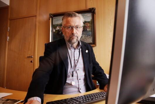 RASERT: Ordfører i Kongsvinger, Sjur Strand mener hele Sør-Hedmark er rasert etter politireformen, og synes det er svært ille at Kongsvinger politistasjon ikke fikk den viktige nøkkelrollen.