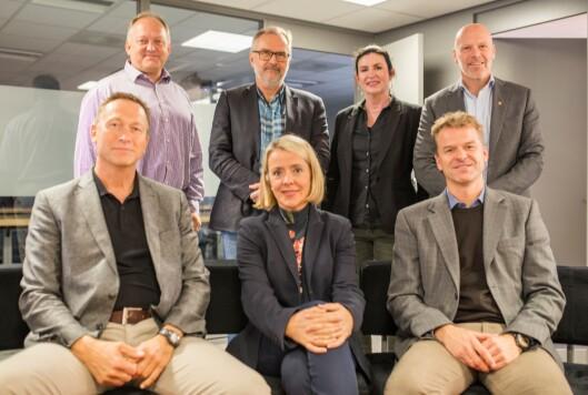 JURY: Årets jury består av PHS-høgskolelektor Rune Glomseth (foran fra venstre), PST-sjef Benedicte Bjørnland, PF-leder Sigve Bolstad, ordfører Jon Arne Vika (bak fra venstre), politimester Hans Sverre Sjøvold, professor Linda Lai og statsadvokat Terje Nybøe.
