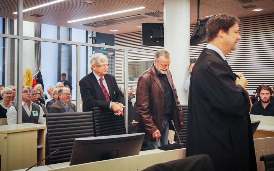 SKYLDIG: Den tidligere politimannen dømmes til lovens strengeste straff. Bildet er tatt før retten ble satt.