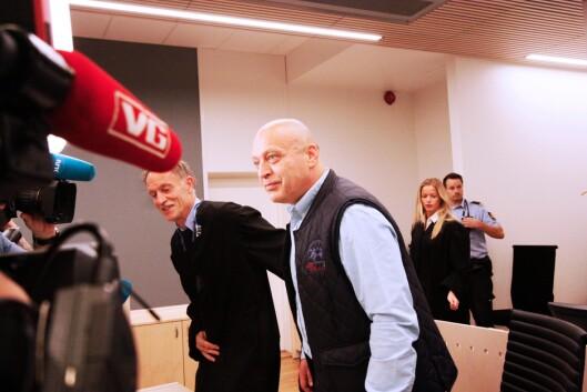 SKYLDIG: Gjermund Cappelen da han ankom retten mandag formiddag. Han dømmes til 15 års fengsel.