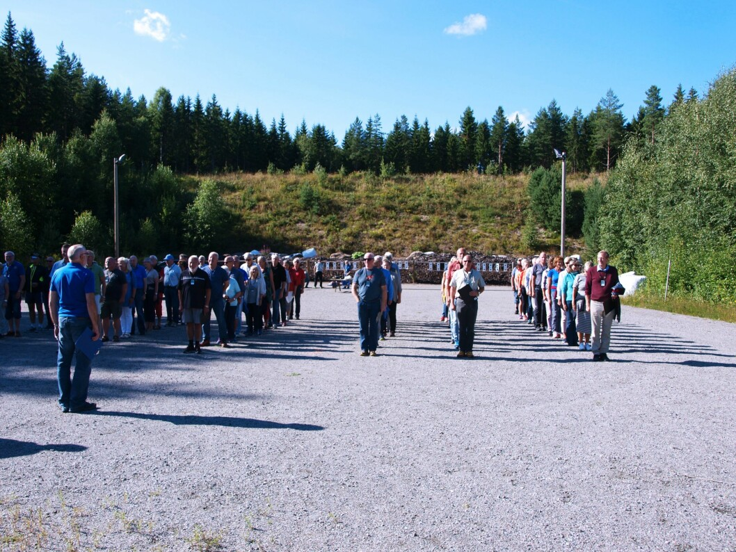 OPPSTILLING: 130 deltakere var med på Seniorkonferansen på Politihøgskolens anlegg på Sæter gård i Kongsvinger.