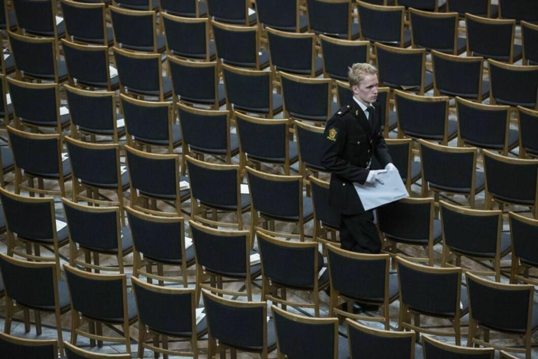 TOMME PLASSER: Ved politiutdanningen i Sverige står en rekke studieplasser tomme. Kontrasten er stor til politihøgskolen i Norge, som på grunn av mange søkere i tillegg