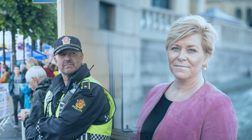 STATSBUDSJETT 2018: Politiets budsjett ble lagt fram av finansminister Siv Jensen i dag.