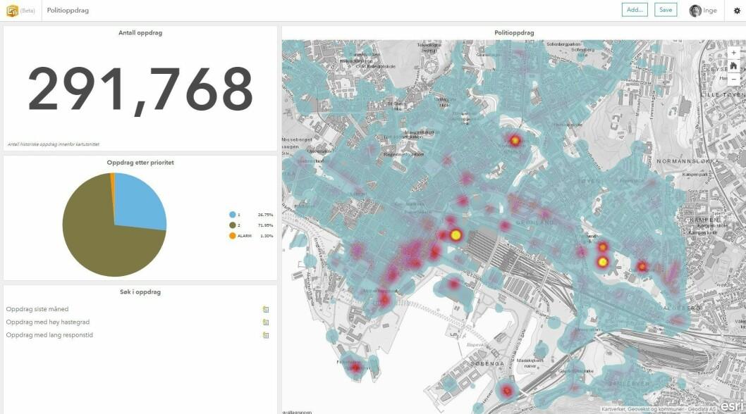 Det nye GIS-verktøyet byr på muligheter for å knytte nye data til kartet, slik at man kan drive analyse i større grad.