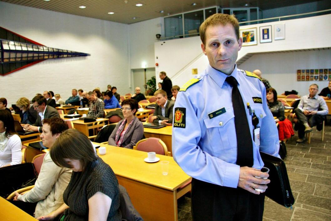 RIKTIG RETNING: Med flere stillinger og ressurser mener politimesteren i Innlandet politidistrikt, Johan Brekke at de er på vei i riktig retning - mot et nivå som Brekke ønsker.