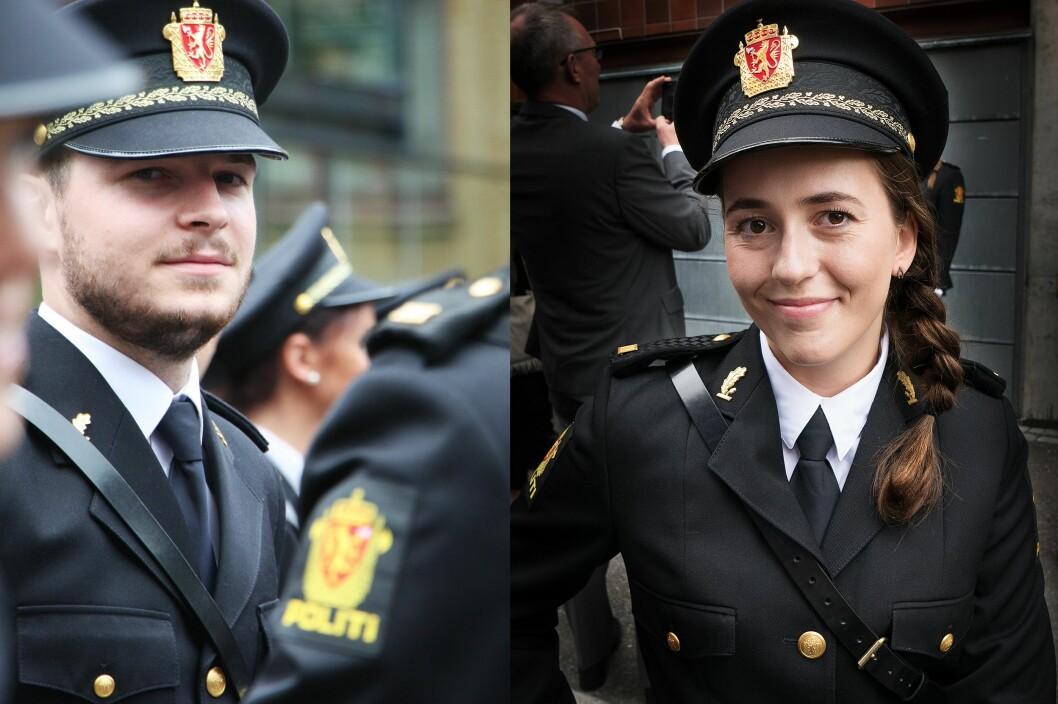 NYUTDANNET I 2016: Knut Håkon Skofsrud og Eldbjørg Jensen fra da de var ferdigutdannet politi i fjor - klare for jobb.