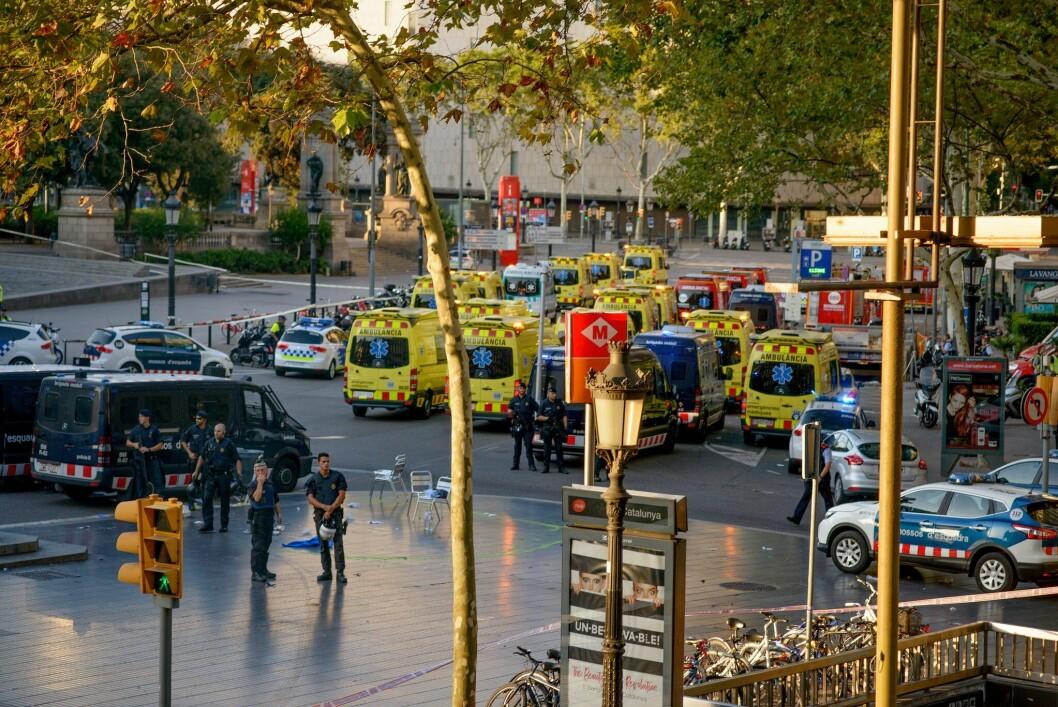 Terrorangrepet i Barcelona i Spania drepte 16 mennesker
