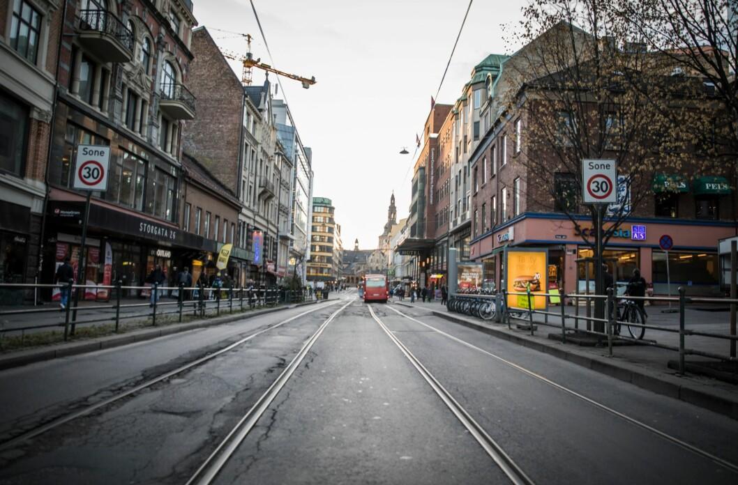 Storgata i Oslo, et av stedene Oslo-politiet trekker fram historier fra.