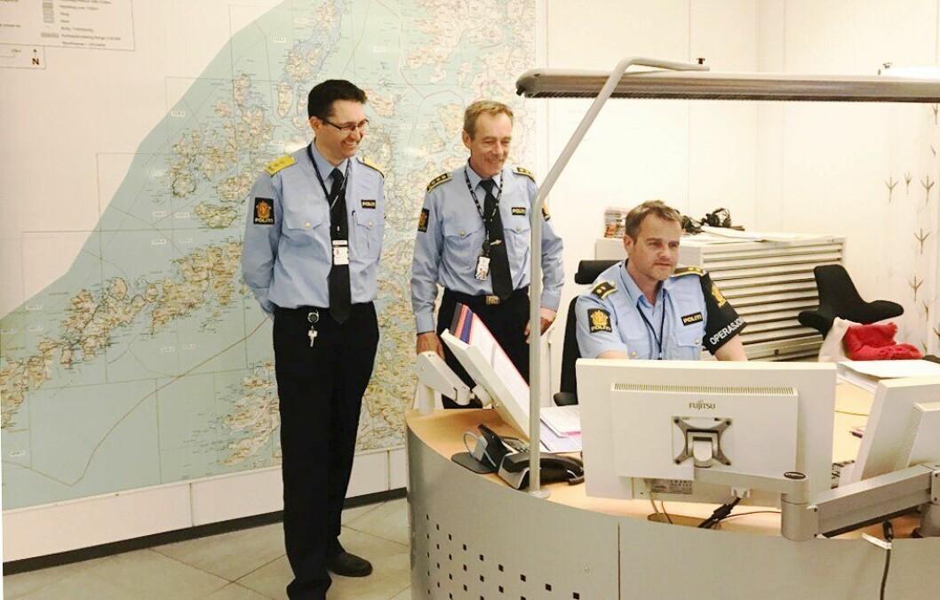 Skuffet: Lennart Steffensen er operasjonsleder i Troms. Her er han sammen med politimester Ole B. Sæverud (til venstre), som han skulle ønske gjorde mer for å jevne ut lønna blant de ansatte.