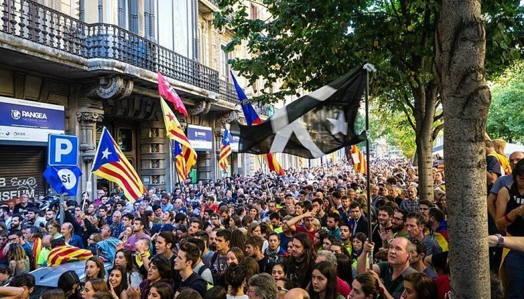 UAVHENGIG: Her fra en demonstrasjon i september i fjor for et uavhengig Catalonia.
