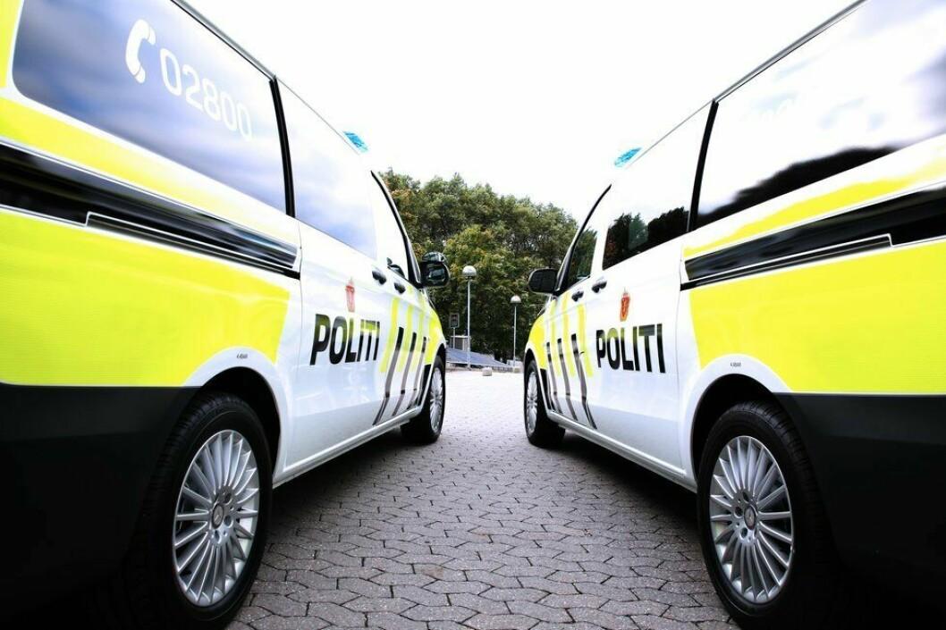 FOR TUNGT LASTET: Problemet med for tung last gjelder de fleste politibilene som politiet bruker. Her er de nye majene, Mercedes Vito.