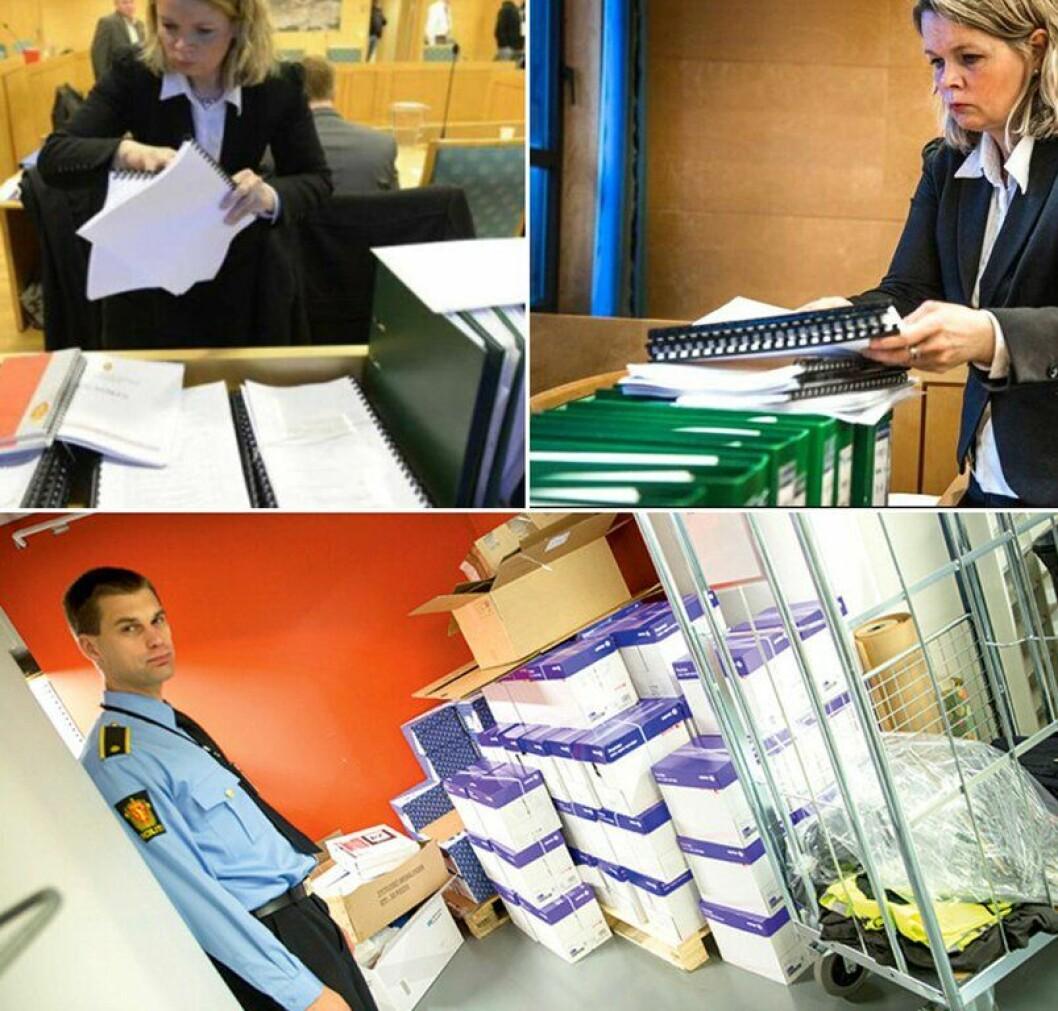SLIPPER DETTE: Forbruket på papir er stort hos politiet og påtalemyndighet, men nå framover vil miljøet spares betraktelig med den nye digitale ordningen.