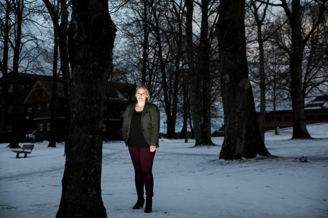 REAGERTE PÅ BARNEGRÅT: Rakel Kristina Hauge er etterforsker og avhører barn i alvorlige saker som familievold og seksuallovbrudd mot barn. Noe av det siste hun gjorde før hun gikk ut i permisjon, var å se gjennom overgrepsmateriale. Nå vil hun løfte fram konsekvensene.