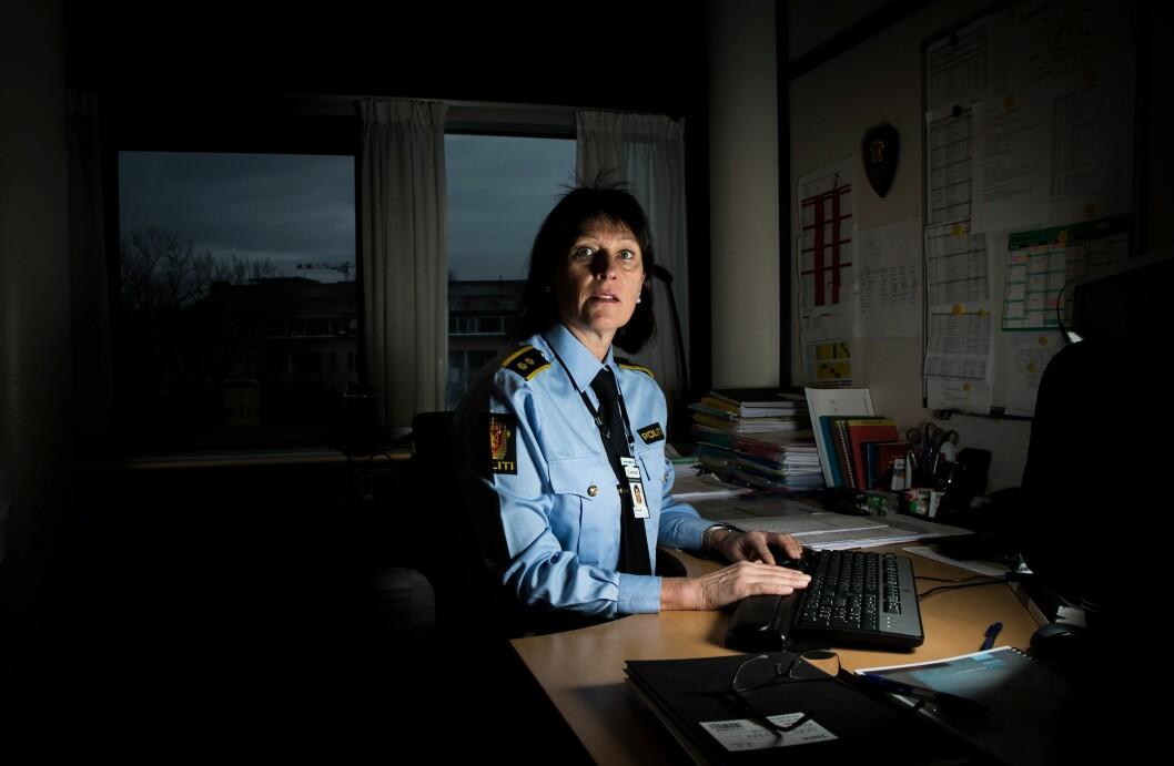 Fra kontoret på politihuset i Oslo, har Lid og lederkollegene fått seksjonen til å firdoble seg på åtte år.