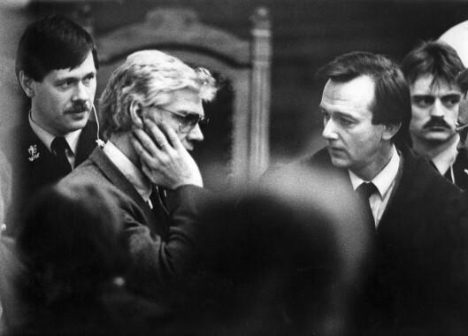 NASJONAL DEBUT: Daværende statsadvokat Tor-Aksel Busch aktorerte den store spionsaken mot Arne Treholt på 80-tallet sammen med Lasse Qvigstad. Her fra Eidsivating lagmannsrett 2. mars 1985.