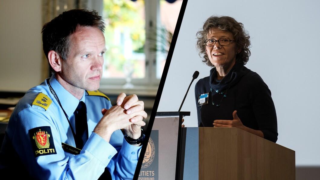 Visste: Håkon Skulstad er assisterende direktør i Politidirektoratet og har vært ledet gjennomføringen av Nærpolitireformen. Karin Aslaksen er HR-direktør i Politidirektoratet.