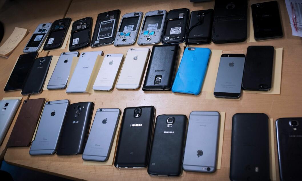 STJÅLNE MOBILTELEFONER: Ble tyveriet av din mobiltelefon henlagt selv om du oppgav gjerningsmann? Reformen tok kanskje pengene som skulle gått til etterforskningen.