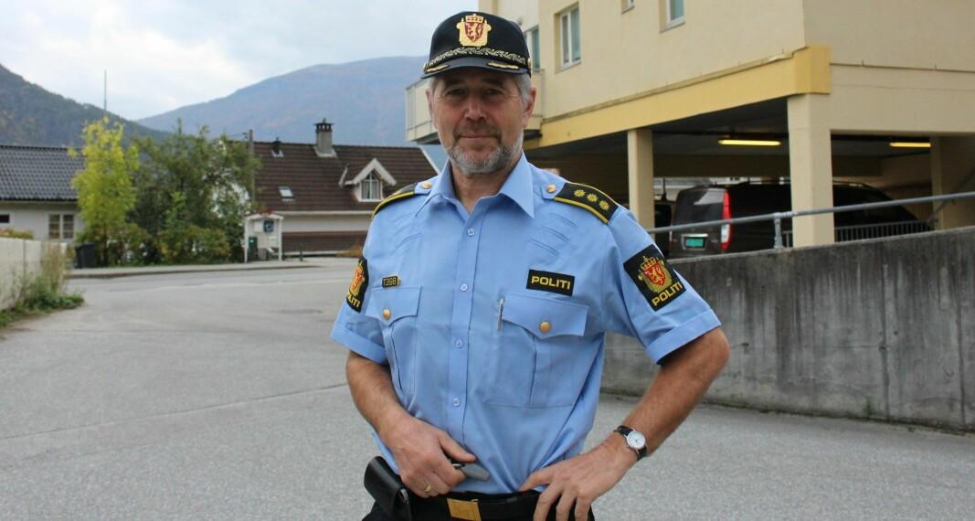 Politiinspektør og GDE-leder for Sogn og Fjordane i Vest politidistrikt, Arne Johannessen.