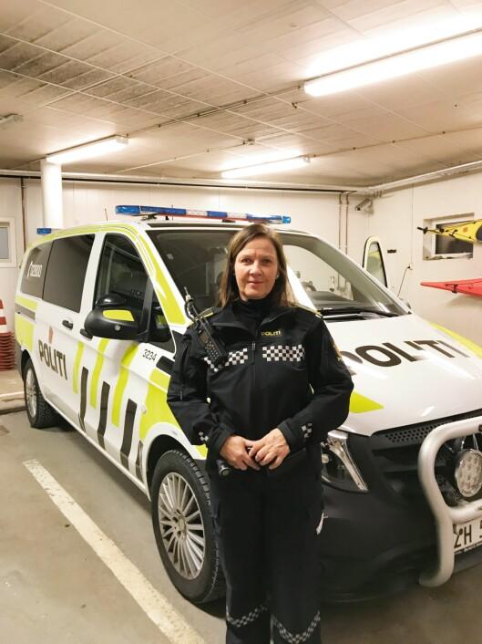 KRITISK BLIKK: Innsatsleder Inger Johanne Andreassen (56) går av med pensjon i år. Hun mener politifolk selv har bidratt til å undergrave ordningen, gjennom praksisen med å føres over i en stillingskode som medfører særaldersgrense en måned før man fyller 57.