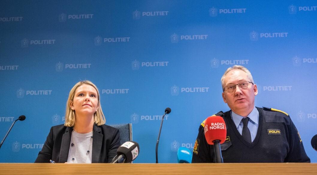 Sylvi Listhaug og Odd Reidar Humlegård.
