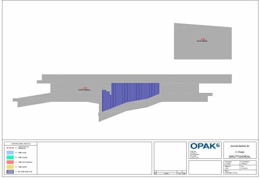 Slik ser en av tegningene fra selskapet OPAK, som har kontrollmålt bygget for Politiets Fellestjenester ut.