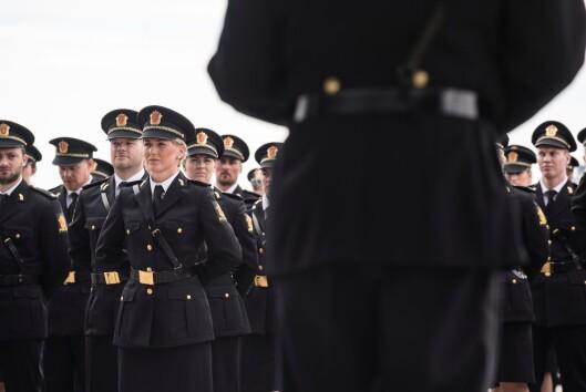 Politihøgskolen i Stavern, under uteksaminering av PHS-studenter.