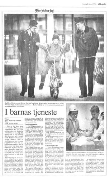 REDD BARNA: – Hensynet til barna, deres behov og problemer må komme sterkere fram. Det er tross alt de som skal utvikle bomiljøet på Holmlia, var meldingen fra politioverkonstabel Erling Børstad til Aftenposten sommeren 1985.