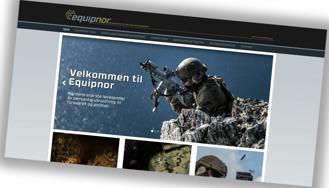 Equipnor selger utstyr til politi- og forsvarspersonell.