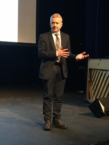 Tidligere justisminister Knut Storberget under tiårsmarkeingen.