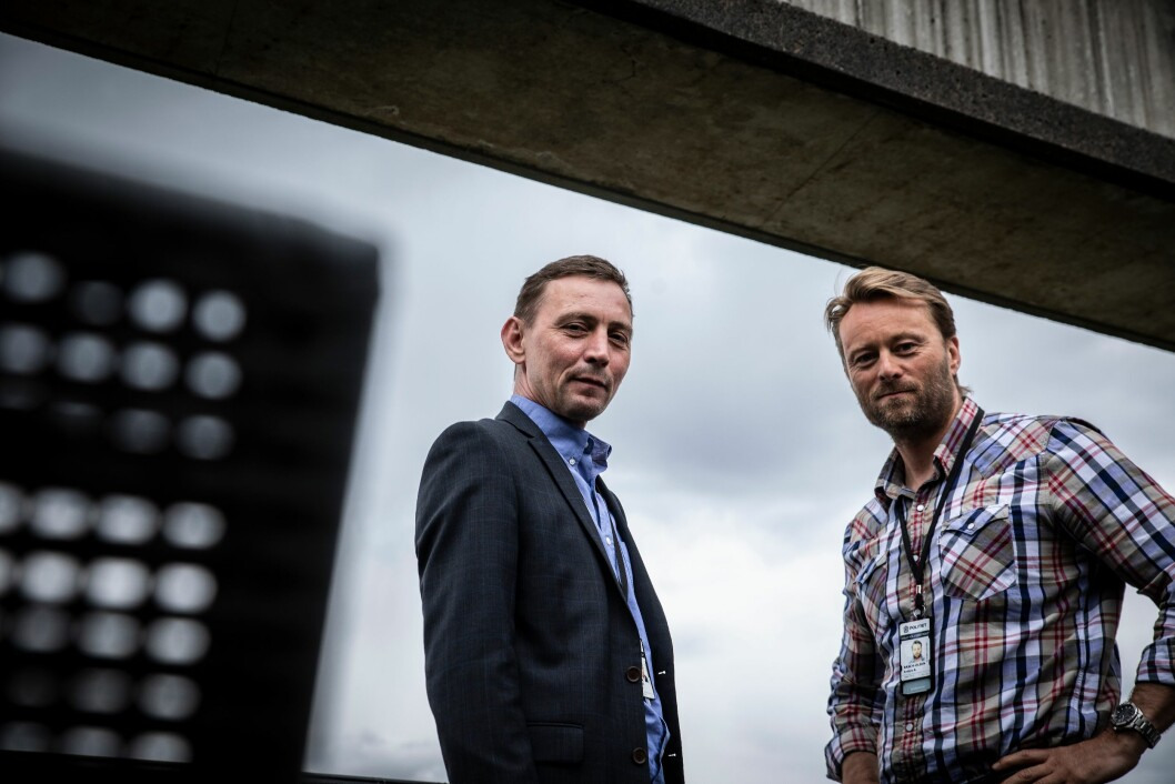 Knut Lutro (til venstre) leder Seksjon for skjult etterforskning. Anders Rasch Olsen ledet Seksjon for spesielle operasjoner.