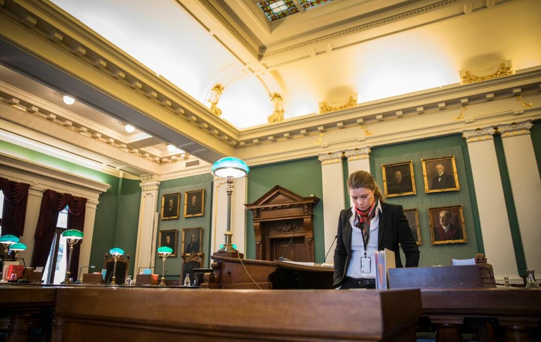 Merete Furesund er advokaten som representerer politimannen Torbjørn Thue.