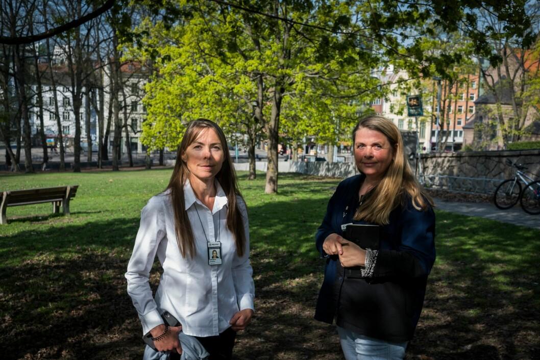 Christina Hofseth og Marianne Sætre ved stab for virksomhetsstyring i Oslo politidistrikt, har sett på trendene i kriminaliteten de kommende årene.