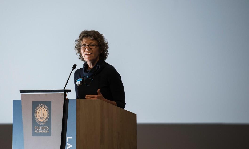 Karin Aslaksen er HR-direktør i politiet, men er ikke ønsket på IDF-møter av en av fagforeningene.