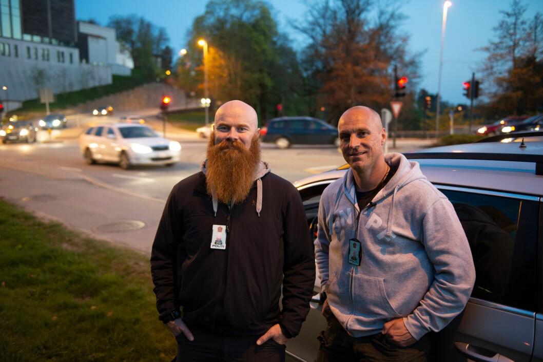 LANDEVEIENS HELTER: E18 i Agder ble aldri det samme etter at Trond og Kenneth begynte å kjøre etterretningspatrulje. De merker at det er langt færre rusede sjåfører på veiene nå, enn da de startet i 2014.