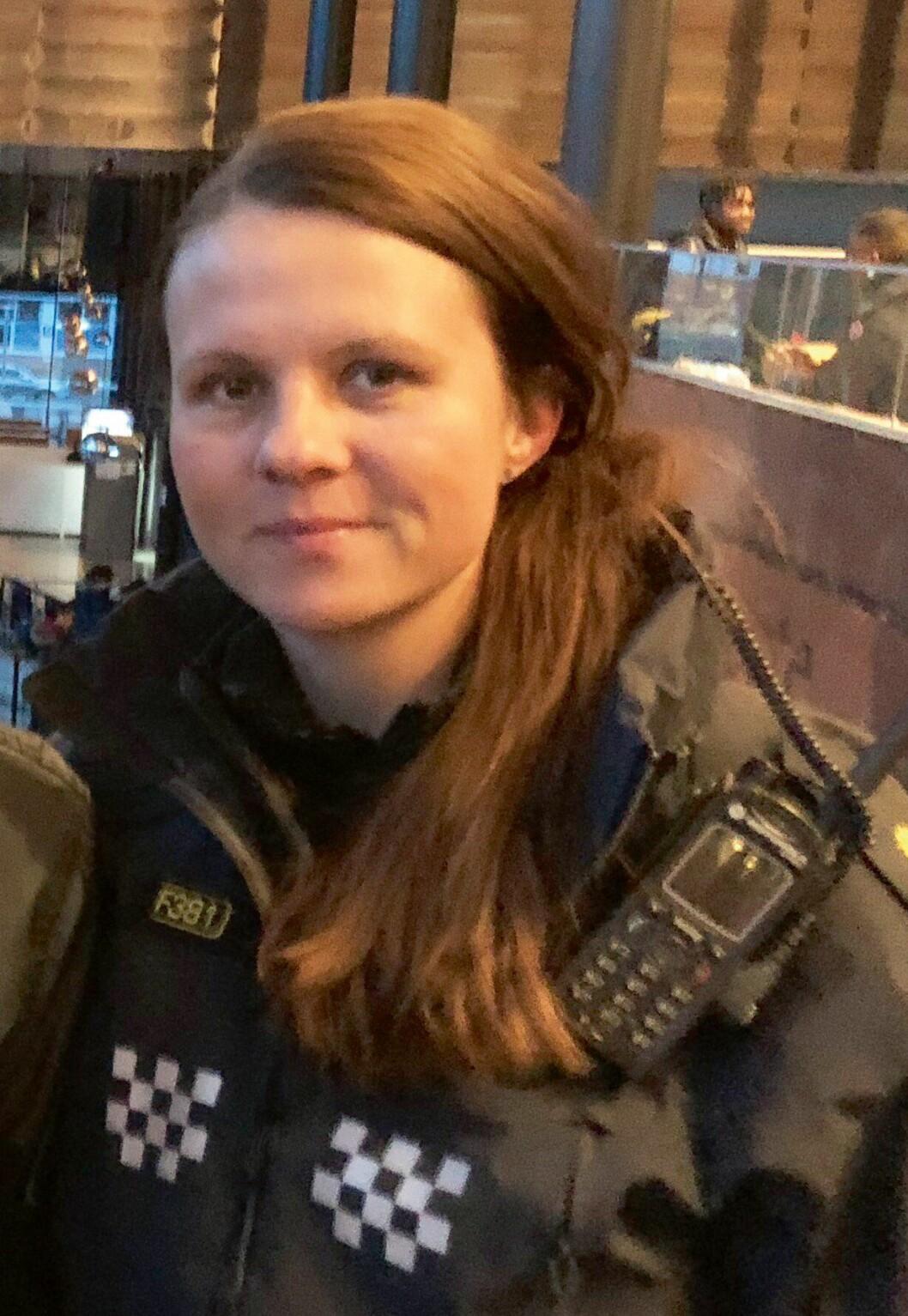 Hanne Blekkan, politibetjent ved Manglerud politistasjon.