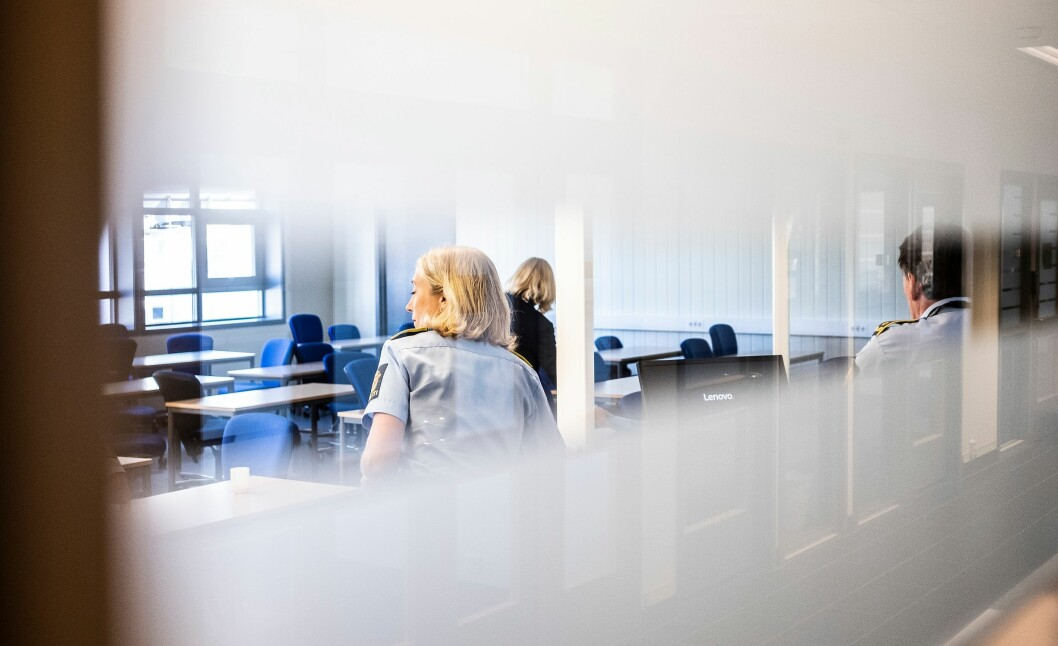 Rektor Nina Skarpenes holdt et lukket møte med de ansatte ved bachelorutdanninga på Kongsvinger tirsdag.