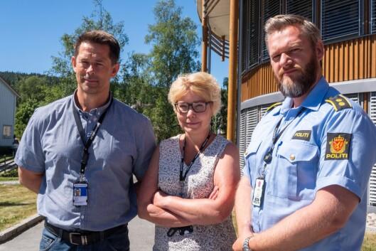 Ole Halvar Larsen, Vanja Sørli og Frode Gundersen representerer ansatte ved PHS. De er lite glade for at endringer ved studiestedet skjer såpass raskt som de vil gjøre.
