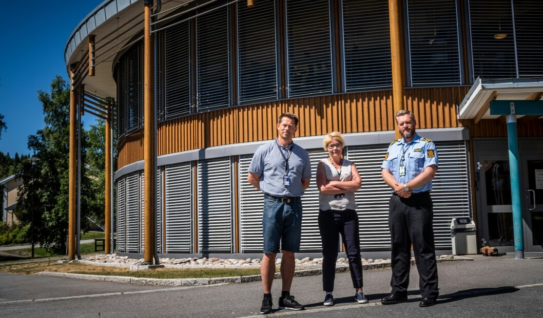 Ole Halvar Larsen, Vanja Sørli og Frode Gundersen håper skolen kan få mer av etter- og videreutdanning.