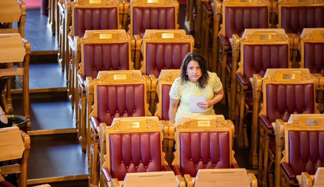 Senterpartiets Jenny Klinge la fram forslag om å få orienteringer til Stortinget om hvordan punktbevæpningen går.