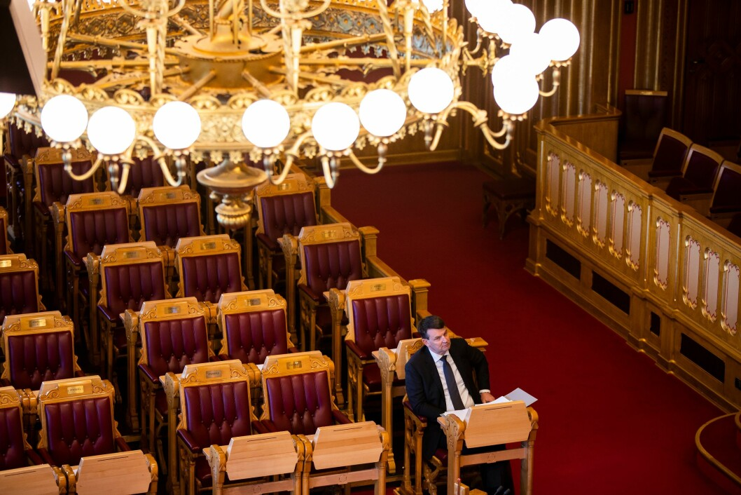 Justisminister Tor Mikkel Wara har redegjort for Stortinget i kveld.