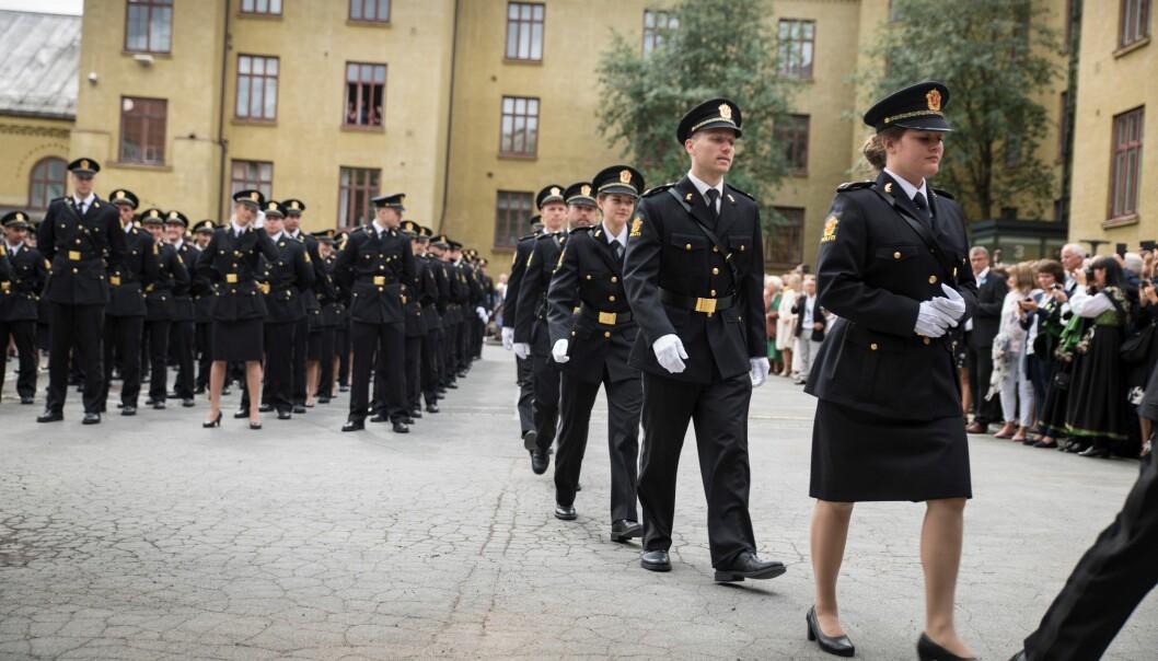 Avslutning for PHS-studentene i Oslo våren 2018. Her fra borggården på den gamle Politighøgskolen på Majorstua.